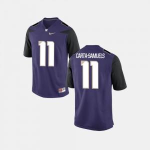 Alumni #11 UW K.J. Carta-Samuels Jersey Purple College Football Mens 666277-113