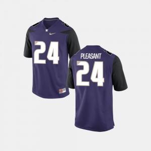 Purple Men's #24 College Football UW Huskies Kamari Pleasant Jersey Embroidery 401259-654