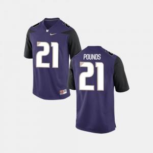 Men UW Quinten Pounds Jersey Purple #21 College Football Alumni 318221-130