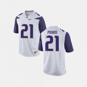 University of Washington Quinten Pounds Jersey For Men's College Football #21 White College 158832-265