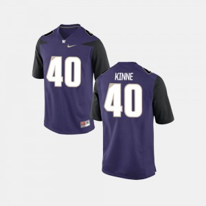 For Men's College Football UW Ralph Kinne Jersey #40 Purple College 320793-160