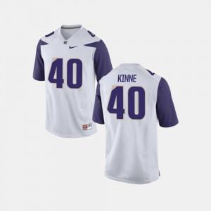 University of Washington Ralph Kinne Jersey College Football #40 For Men White Official 149889-919