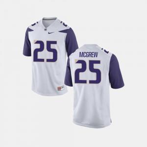 UW Huskies Sean McGrew Jersey Men White College Football College #25 304925-441