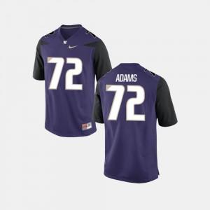 #72 Washington Huskies Trey Adams Jersey For Men College Football Official Purple 782069-691