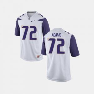 College Football High School Mens White Washington Huskies Trey Adams Jersey #72 930636-771