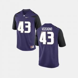UW Huskies Tristan Vizcaino Jersey Purple For Men's College Football #43 College 796473-813