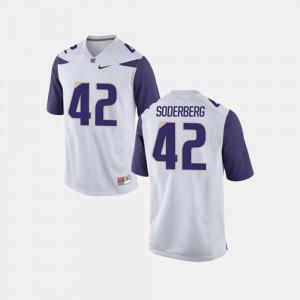 White College Football For Men's University of Washington Van Soderberg Jersey Player #42 514705-848