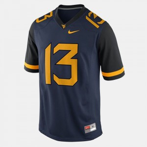#13 Men WV Andrew Buie Jersey College Football Stitched Blue 523823-909