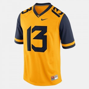 WV Andrew Buie Jersey College Gold #13 For Men's College Football 324508-716
