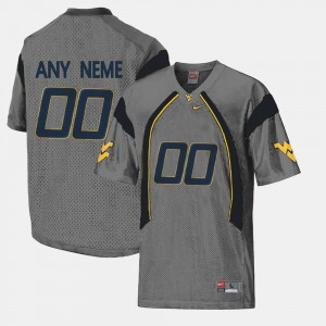 Gray #00 College Limited Football Stitched Mens West Virginia Mountaineers Customized Jersey 562633-673