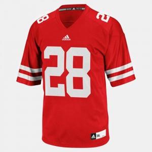 UW Montee Ball Jersey College Football #28 Red Alumni Mens 519432-865