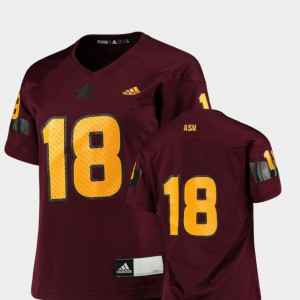 #18 Replica Sun Devils Jersey Maroon College Football Official Ladies 528414-553