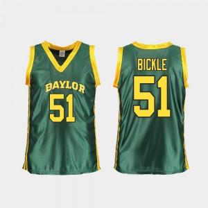 Baylor University Caitlyn Bickle Jersey College Basketball Green Replica Alumni For Women #51 597839-236