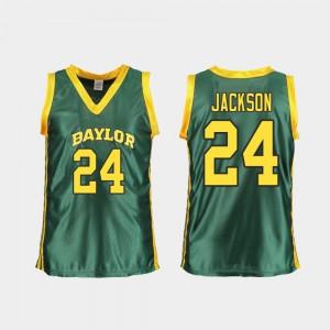 Women University Replica Baylor Chloe Jackson Jersey #24 Green College Basketball 809031-271