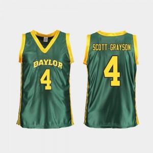 College Women's College Basketball #4 Replica BU Honesty Scott-Grayson Jersey Green 468101-257