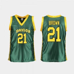 College Womens BU Kalani Brown Jersey College Basketball Green Replica #21 330069-156