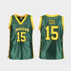 #15 College Basketball Green Baylor University Lauren Cox Jersey Embroidery Replica Women's 712630-428