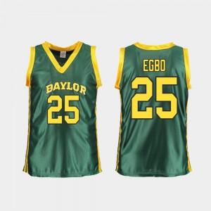 Baylor Queen Egbo Jersey Replica Womens Green #25 College Basketball University 392697-578
