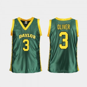 #3 Baylor Trinity Oliver Jersey Green Official For Women's Replica College Basketball 123673-239
