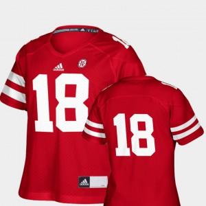College Football #18 Scarlet Replica NCAA Women's University of Nebraska Jersey 295152-477