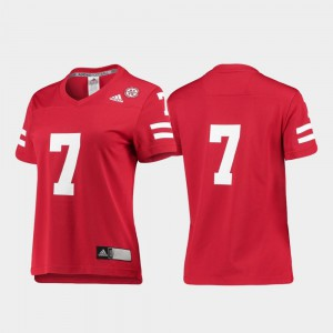 Stitched Scarlet College Football University of Nebraska Jersey #7 Womens Replica 428976-258