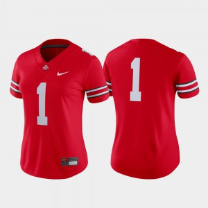 College Football #1 Ohio State Buckeye Jersey For Women's Game Scarlet High School 378899-794