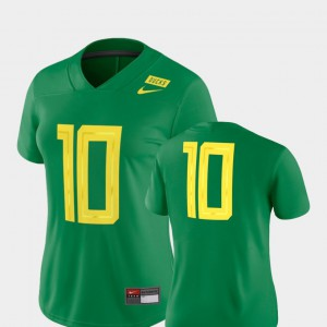 Oregon Ducks Jersey Official Football Game Green #10 Women 2018 Mighty Oregon 423641-915