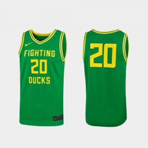 Replica Green #20 Ducks Jersey For Women's College College Basketball 612673-496