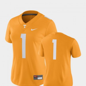 Women's Tennessee Jersey Official 2018 Game Tennessee Orange #1 College Football 977705-518