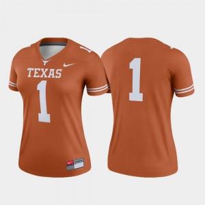 #1 College Football Legend University of Texas Jersey Texas Orange Women's Embroidery 230650-876