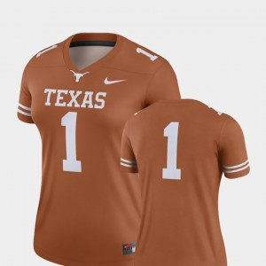 #1 Texas Orange Finished Replica For Women College Football UT Jersey Official 179779-709