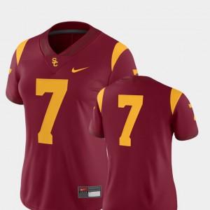 2018 Game University Women's #7 College Football Cardinal Trojans Jersey 224386-519