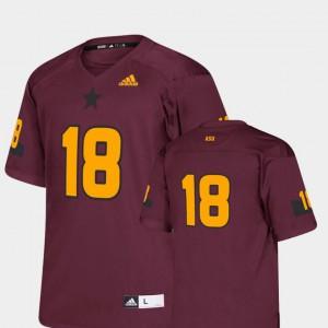 Kids #18 College Football Maroon Replica Stitch Arizona State Sun Devils Jersey 118087-870