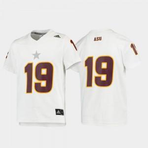 #19 Replica Sun Devils Jersey For Kids Football White College 693802-173