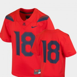 University of Arizona Jersey Official #18 Red Youth(Kids) College Football Team Replica 444309-927