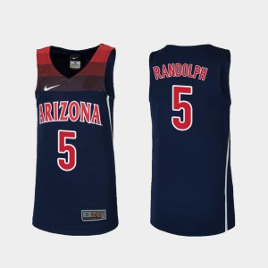 Stitched College Basketball Wildcats Brandon Randolph Jersey #5 Navy Youth(Kids) Replica 972874-140