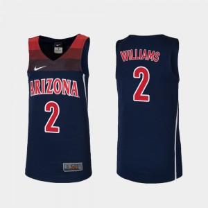 #2 Replica College Basketball Embroidery Navy Wildcats Brandon Williams Jersey Youth(Kids) 354967-909