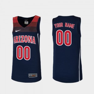 Stitched Replica #00 College Basketball U of A Custom Jerseys Navy For Kids 424184-560