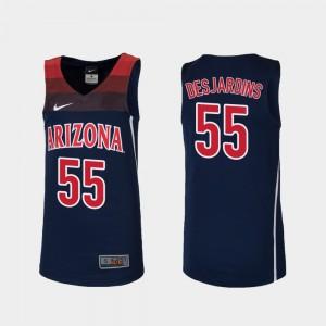 Stitched College Basketball UofA Jake DesJardins Jersey Replica Navy #55 Youth 380238-397
