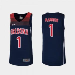 Navy #1 College Basketball Replica Player Kids Wildcats Nico Mannion Jersey 139685-379