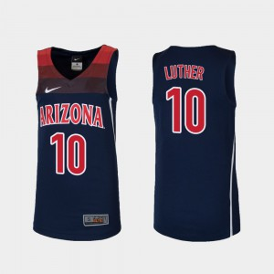 Stitch UofA Ryan Luther Jersey #10 College Basketball For Kids Navy Replica 609543-355