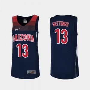 Replica Youth(Kids) Player Arizona Wildcats Stone Gettings Jersey #13 College Basketball Navy 132827-853