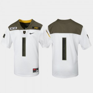 1st Cavalry Division Youth(Kids) Limited Edition Replica Army West Point Jersey White #1 Stitch 647972-504
