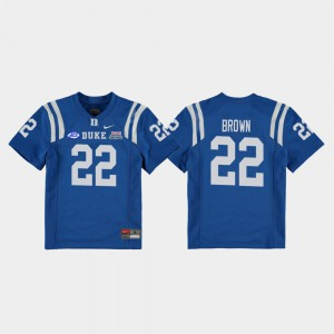 Youth #22 Royal Blue Devils Brittain Brown Jersey 2018 Independence Bowl College Football Game Official 636662-662