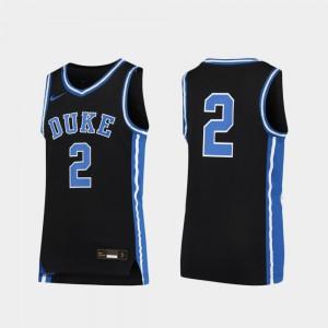 Duke Blue Devils Jersey Youth(Kids) Black Basketball #2 Official Replica 199815-431