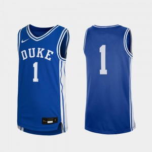 #1 Replica Official Royal Youth College Basketball Duke Blue Devils Jersey 143103-443