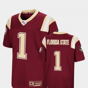 Foos-Ball Football Stitched Florida State Jersey Youth(Kids) Colosseum #1 Garnet 390829-507