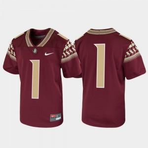 Kids #1 Garnet Untouchable Football Alumni Florida State Seminoles Jersey 216364-216