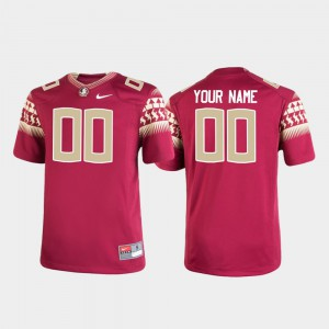 #00 Football Player For Kids Replica Garnet Seminole Customized Jersey 551598-782