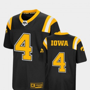 Hawkeyes Jersey Foos-Ball Football #4 Youth Black Colosseum College 829080-359